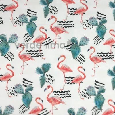 Licra - Cactos e flamingos