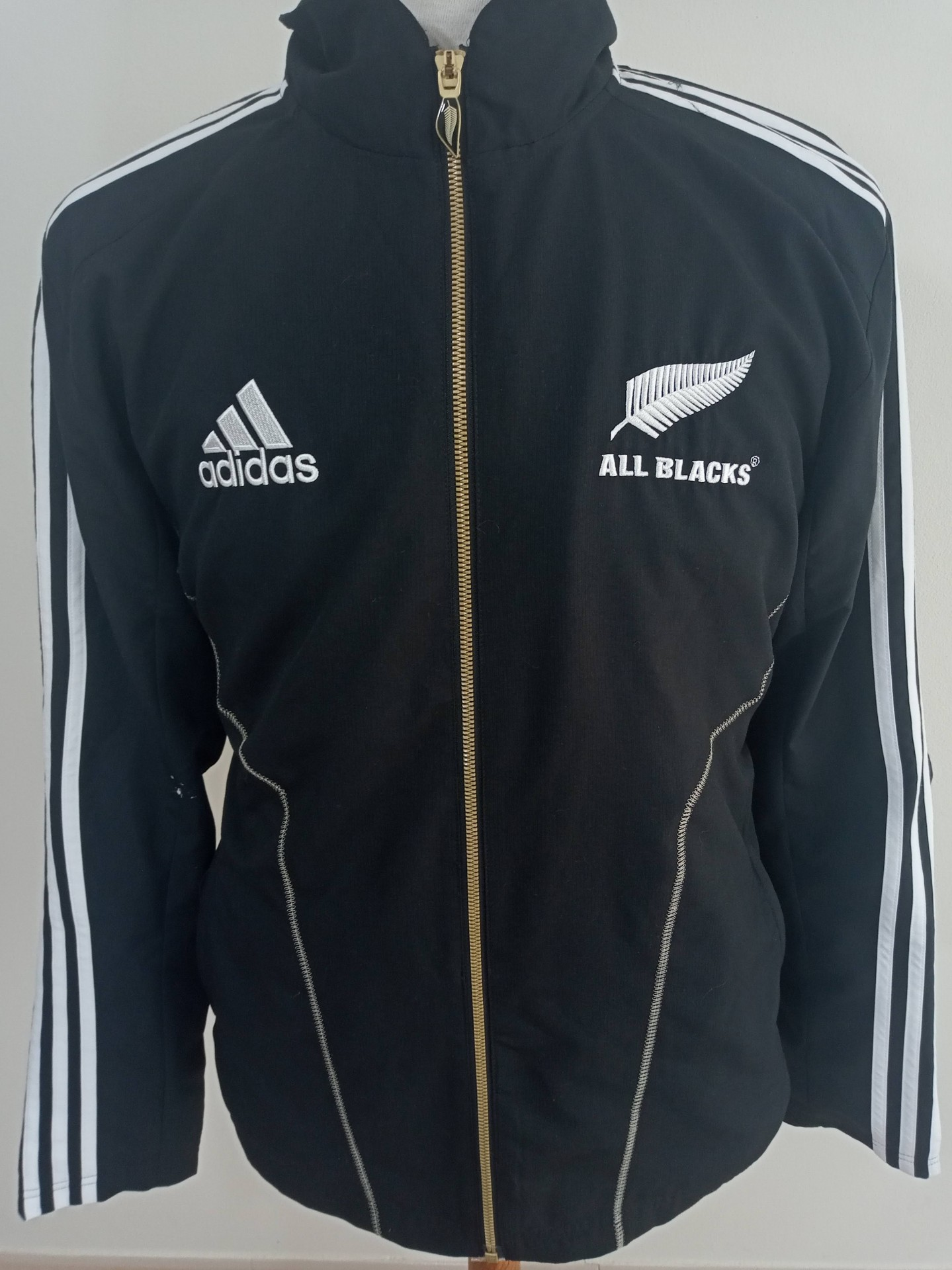 New Zealand All Blacks Rugby Jacket 2011 (L) Adidas Casaco | Vintage Sports Classic Football Shirts Jerseys Camisolas Futebol NBA