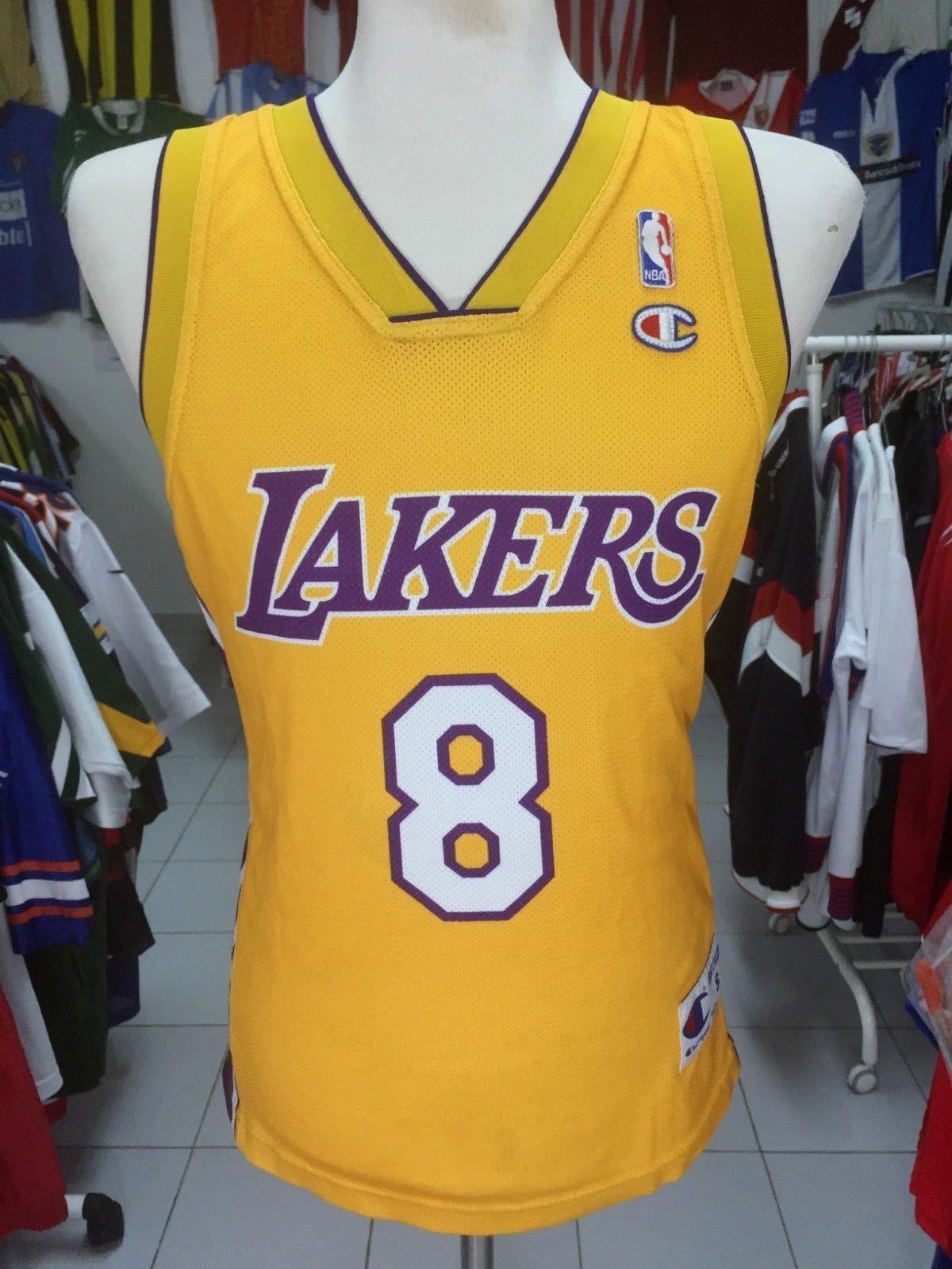 2f7bea7d1efe LA Los Angeles Lakers  8 Bryant (S) NBA Shirt Jersey Champion ...