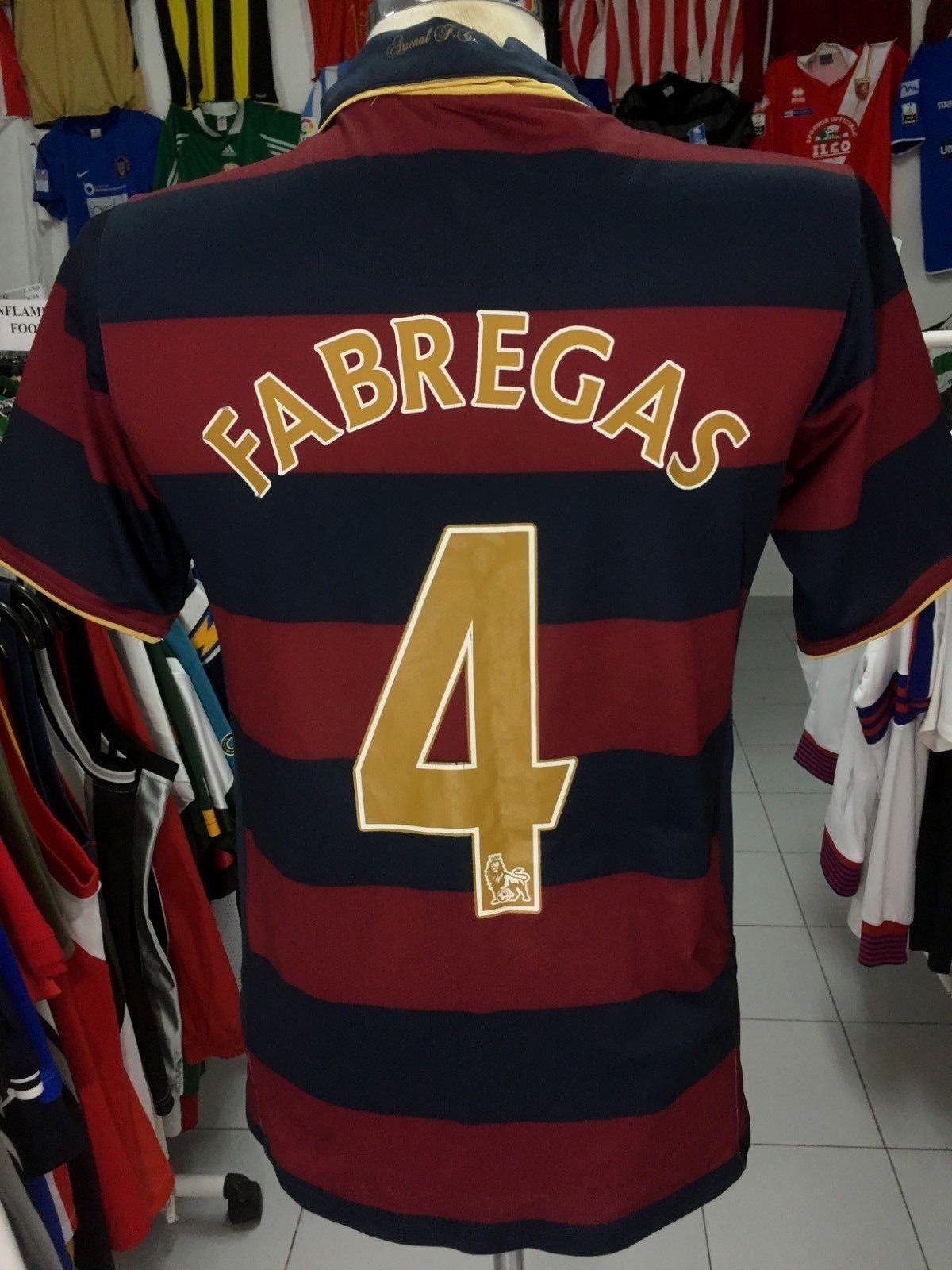 5e9e699d0a3 Arsenal FC 3rd Kit Shirt 2007-08 (Kids)  4 Fabregas Camisola Nike ...