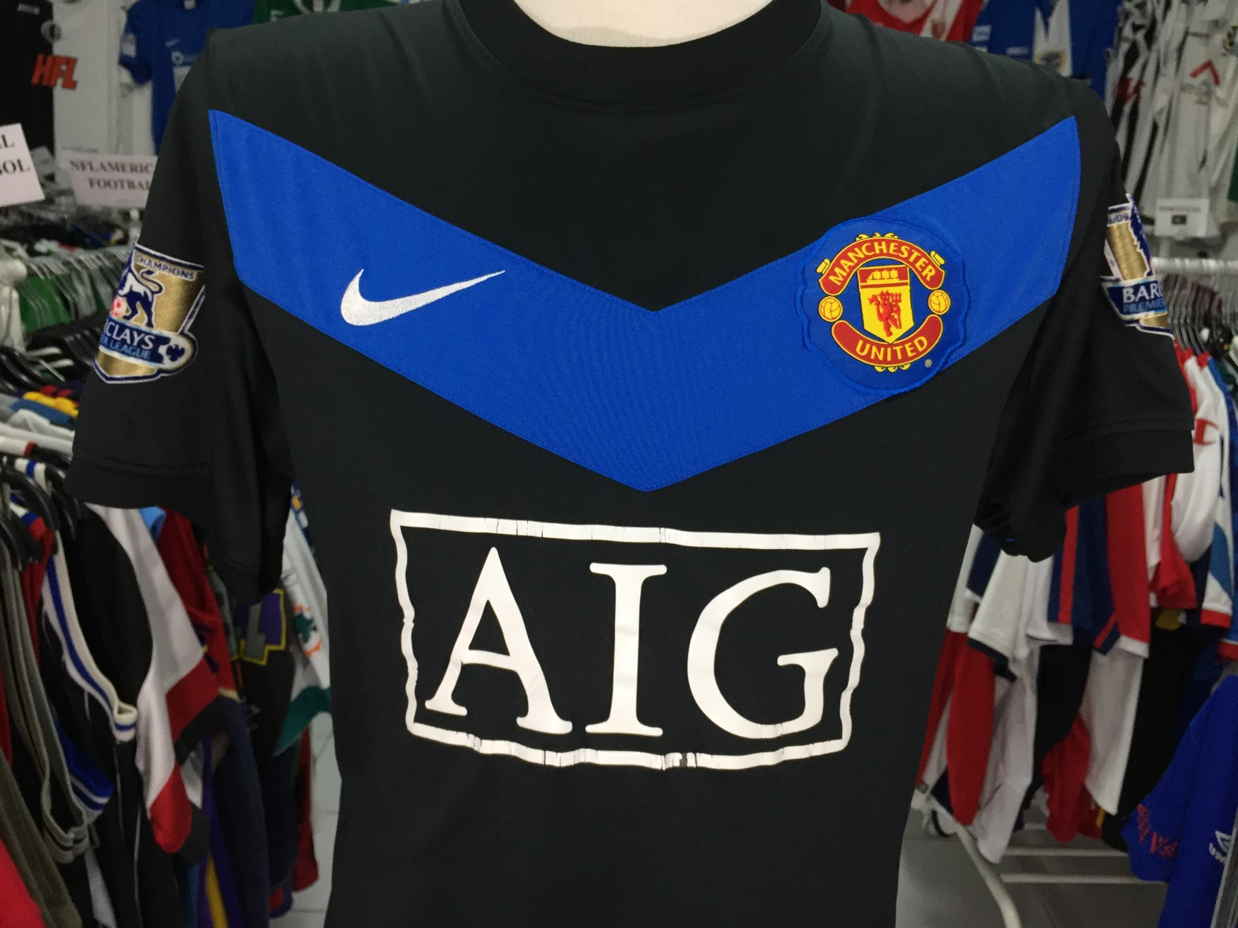 46d43ae4496 Manchester United Away Shirt 2009-10 (M)  10 Rooney Nike Camisola ...