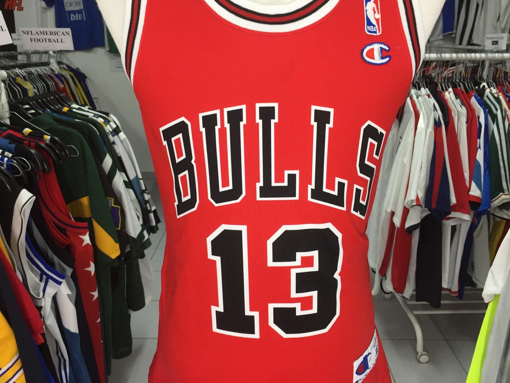 5d73df5df830 Chicago Bulls Home Shirt (XS)  13 Noah NBA Jersey Champion Camisola ...