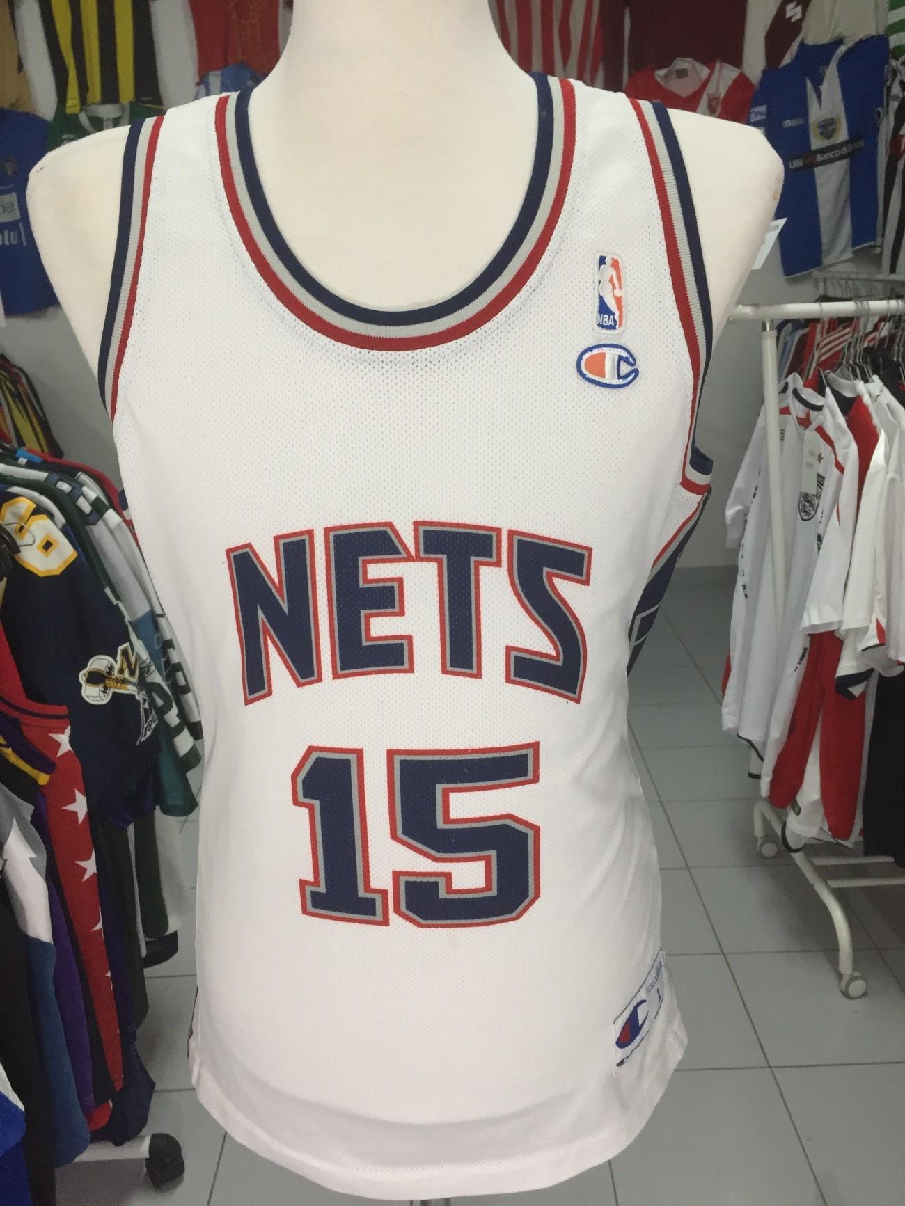 824fbabc5f6d New Jersey Nets Shirt (L)  15 Vince Carter NBA Jersey Champion ...