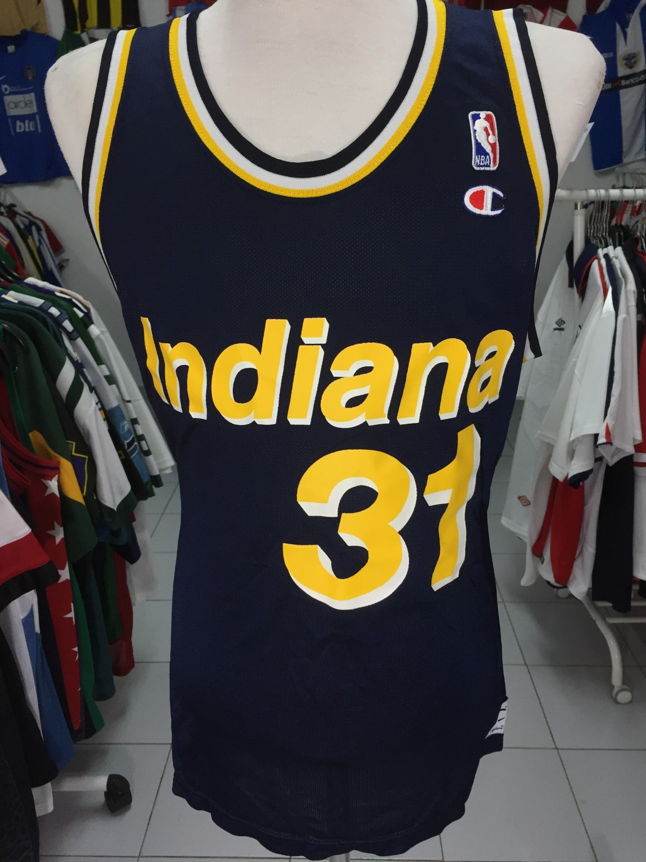 Indiana Pacers Home Shirt 90s (48)  31 Miller NBA Jersey Champion ... 4a39744f9