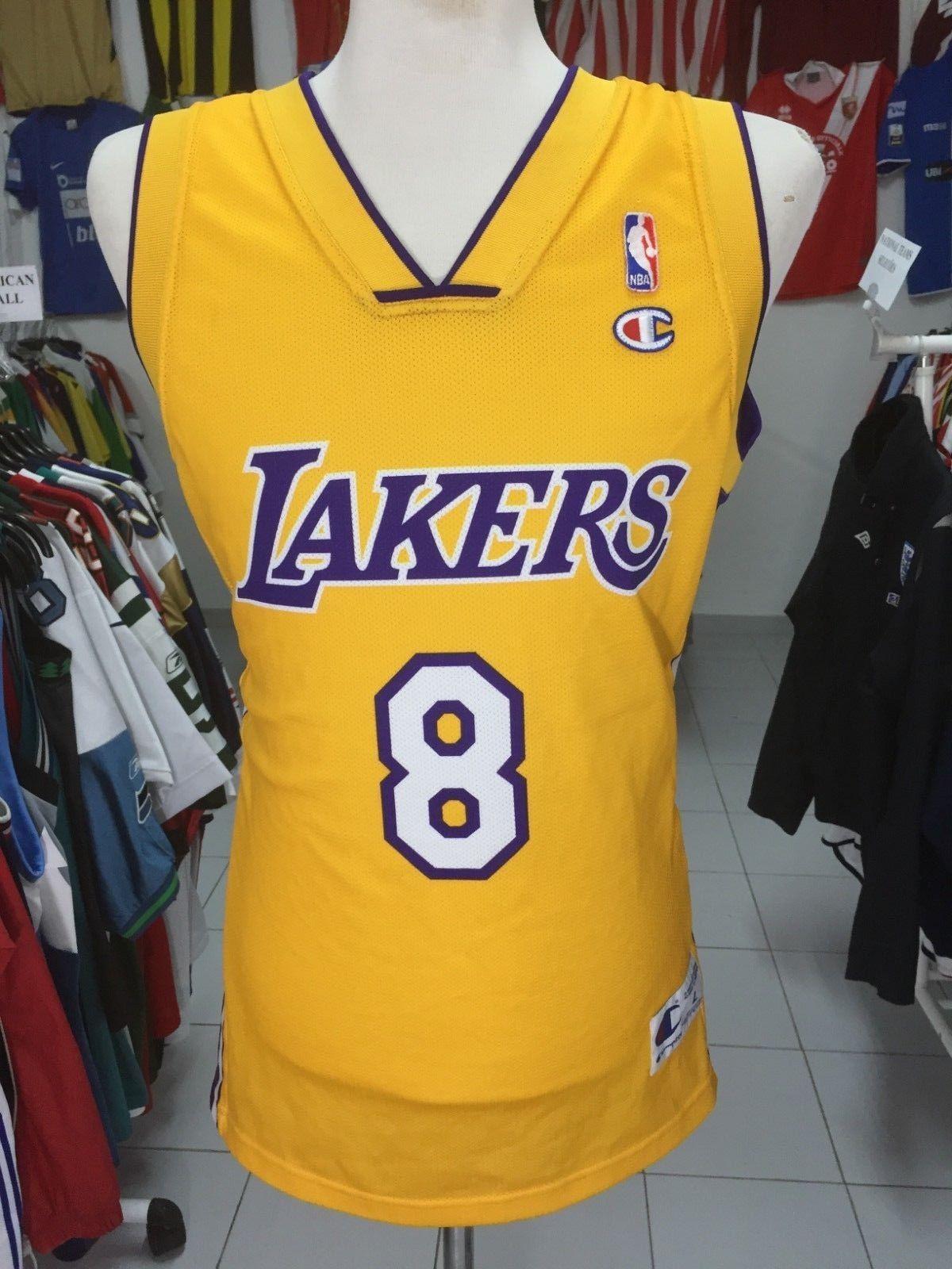607ac8ca4705 LA Los Angeles Lakers  8 Bryant Jersey (L) NBA Shirt Champion ...