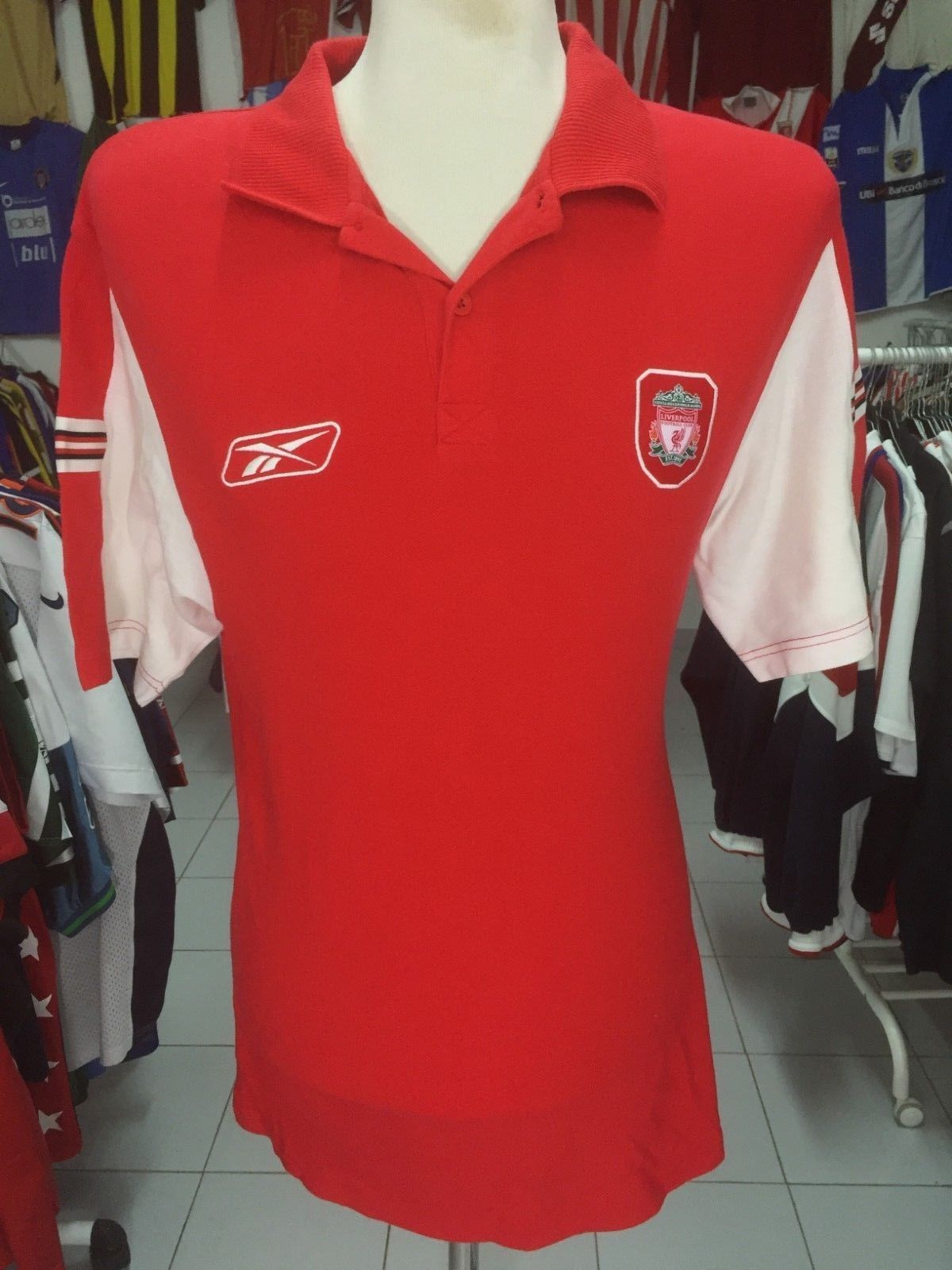 da6869258 Liverpool FC Polo Shirt (L) Reebok | Vintage Sports Classic Football ...
