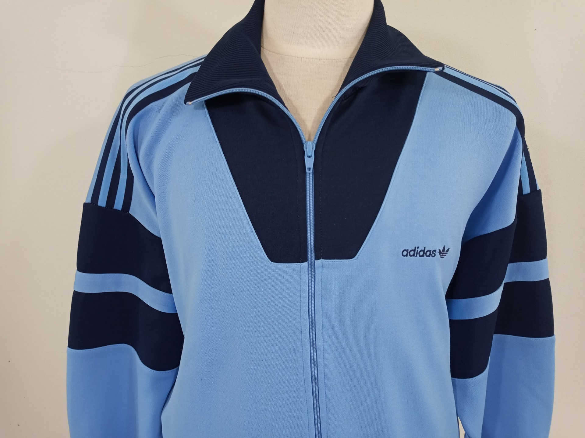 Vintage Track Top Adidas 1990s (M) Blue Jacket