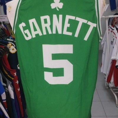 Boston Celtics Home Jersey (S)#5 Garnett NBA Shirt
