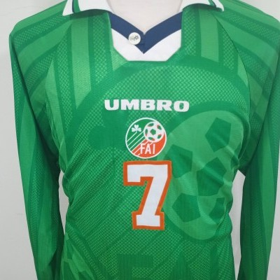 Republic of Ireland Home Shirt 1999 (XL) #7 MATCHWORN