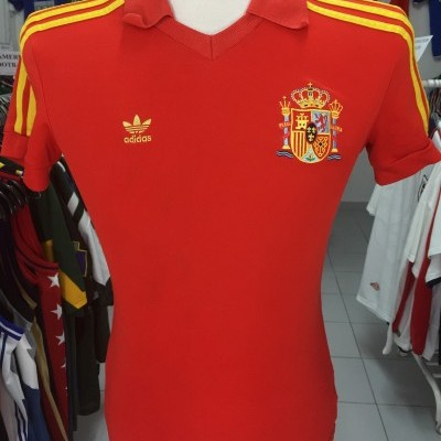 Retro Spain Home Shirt 1982 (XS) #10 Adidas World Cup