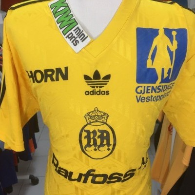 Matchworn Raufoss IL Home Shirt 90s (XL) #8 Norway