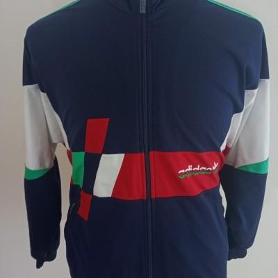 Vintage Track Top Adidas (L) Blue White Red Jacket