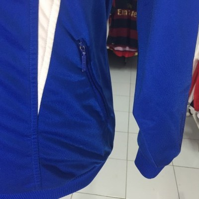 Vintage Track Top Adidas (M) Blue White Jacket