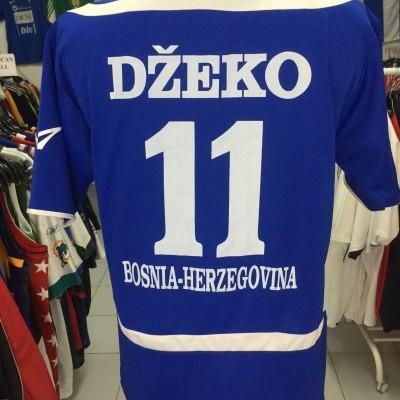 Bosnia and Herzegovina Home Shirt 2008 (L) #11 Dzeko
