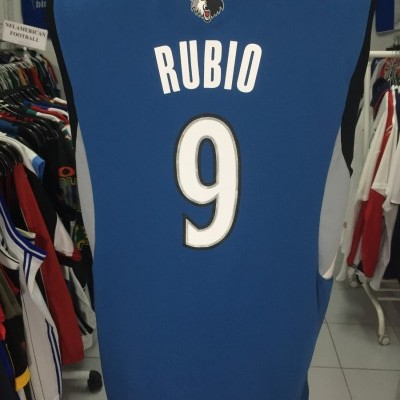 Minnesota Timberwolves Jersey #9 Rubio (M) NBA Shirt