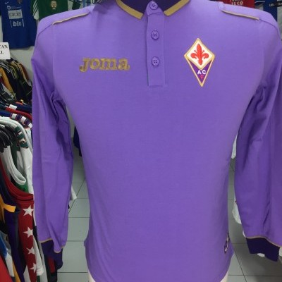 BNWT AC Fiorentina Long Sleeve Polo Shirt Kids