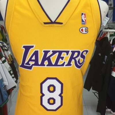 f97f4626c4d2 ... LA Los Angeles Lakers  8 Bryant Jersey (L) NBA Shirt Champion ...