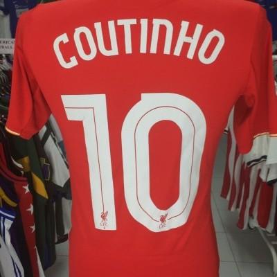 Liverpool FC Home Shirt 2015-16 #10 Coutinho