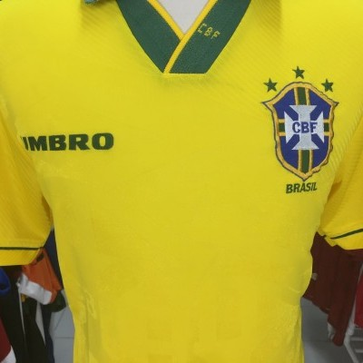 Brazil Home Shirt 1994 (M) Brasil