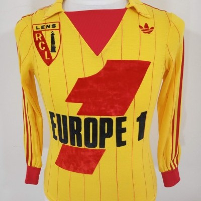 Vintage RC Lens Home Shirt 1980s Years Adidas Ventex France