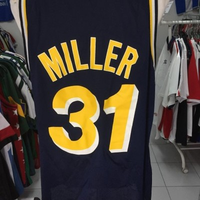 Indiana Pacers Home Shirt 90s (48) #31 Miller NBA Jersey