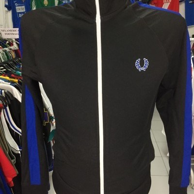 Fred Perry Jacket (S) Black Blue Track Top