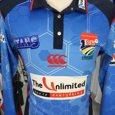 Titans Cricket Shirt 2015 (S) One Day Cup South Africa