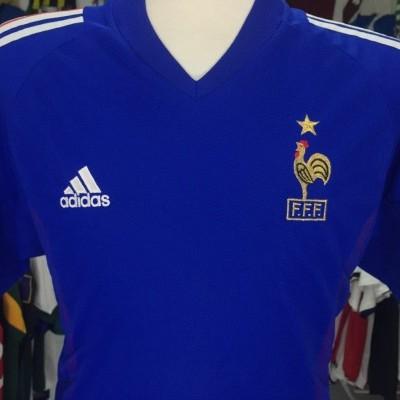 France 2002 Home Shirt (M) Jersey