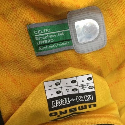 Celtic Glasgow FC Away Shirt 2002-03 (M)