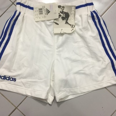 NEW Vintage Adidas Basketball Shorts Womens White Blue