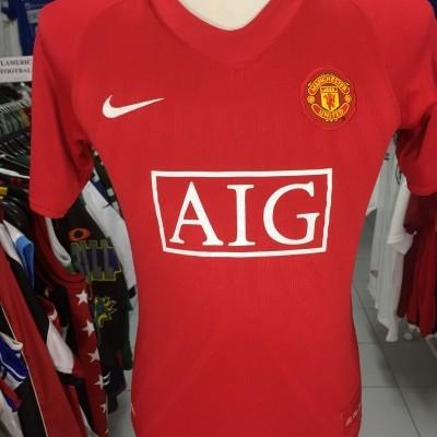 Manchester United Home Shirt 2007-09 Kids #7 Ronaldo