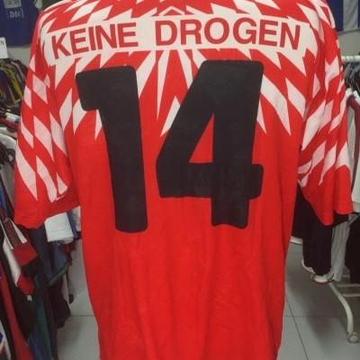 Vintage Matchworn FC Raron Home Shirt (XL) #14 Switzerland