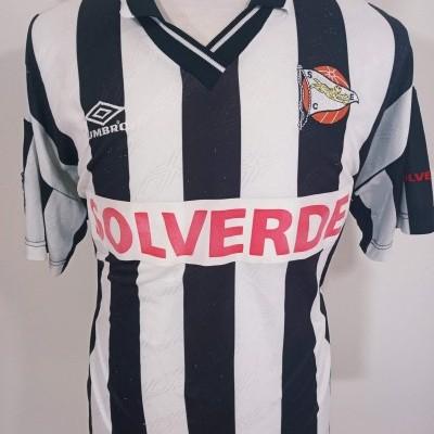 "Matchworn Sporting Espinho Home Shirt 1997 (XL)#9 ""Good Condition"""