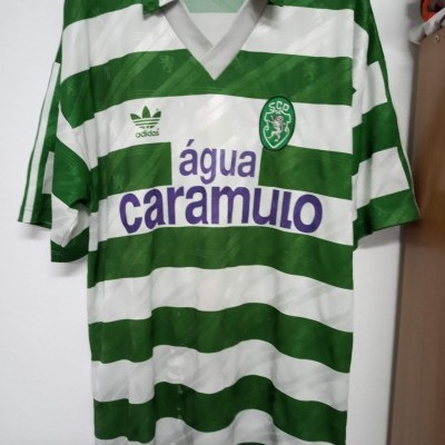 Vintage Sporting CP Home Shirt 1992-93 (L) Adidas