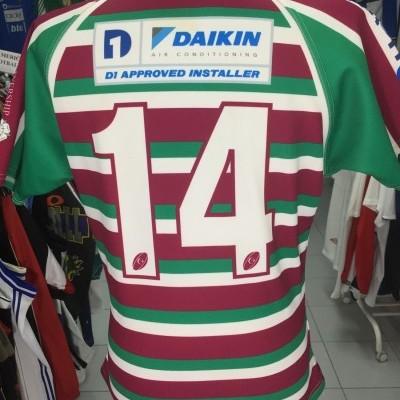 Matchworn Moortown RUFC Rugby Home Shirt (M) #14