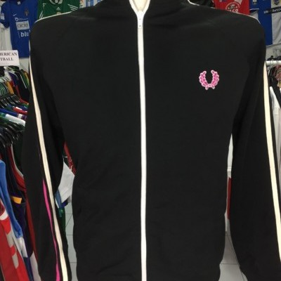 Fred Perry Jacket (S) Black Pink Track Top