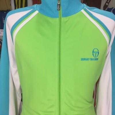 Sergio Tacchini Track Top (L) Green Blue