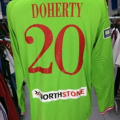 ISSUE Coleraine FC Goalkeeper Shirt 2012 (L) #20 League Cup Final