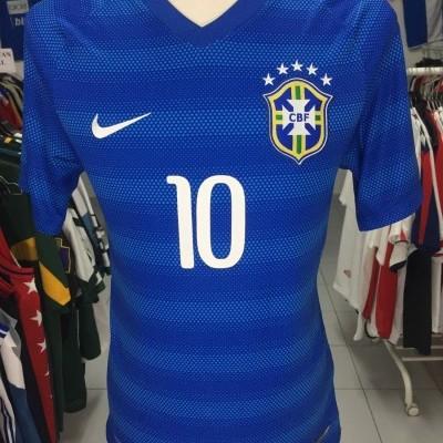 Brazil Away Shirt 2014 (S) #10 Neymar Jersey