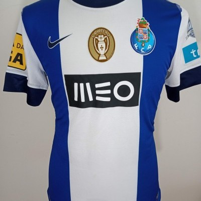 Matchworn FC Porto League Cup Final Shirt 2012-13 (L) #3 Lucho
