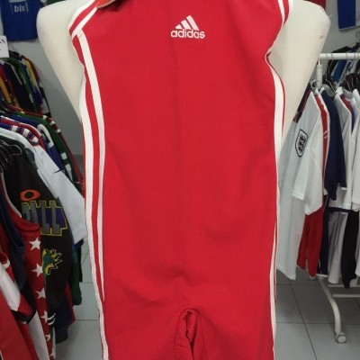 NEW Vintage Adidas Body Suit Womens Red Athletics