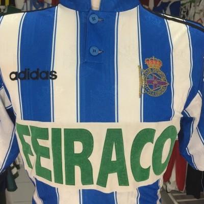 Deportivo La Coruna Coruña Home Shirt 1996-98 (S)