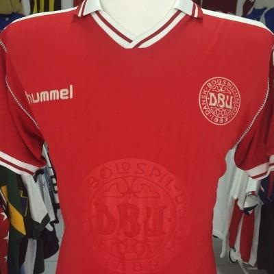Denmark 1998 Home Shirt (S) Hummel