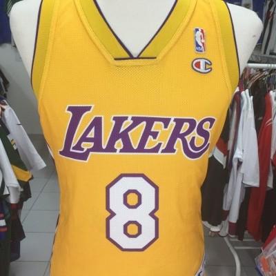 f728ddc69ca8 ... LA Los Angeles Lakers  8 Bryant (S) NBA Shirt Jersey Champion ...