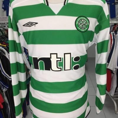 Celtic Glasgow FC Home Shirt 2001-02 (XL) #5 Long Sleeve
