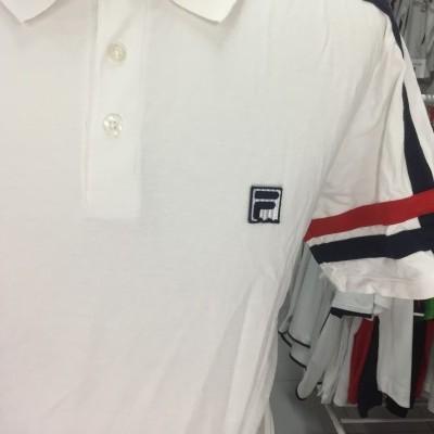 Polo Shirt Fila (L) White 100% Cotton
