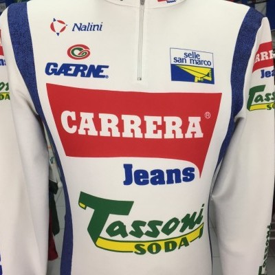 Carrera Jeans Tassoni Long Sleeve Cycling Shirt 1992 (L) Jersey