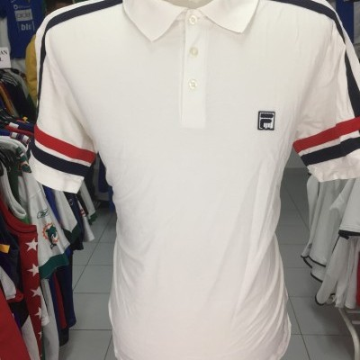 Polo Shirt Fila (L) White 100% Cotton