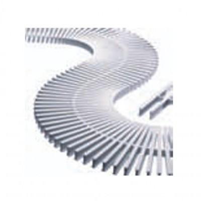 Módulo grelha transversal para curvas - Altura 22 mm, largura 195 mm