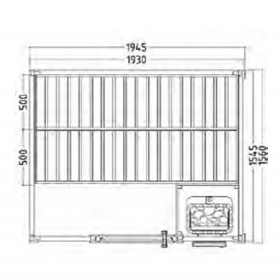 Sauna Tradicional Básica 1.95 X 1.87